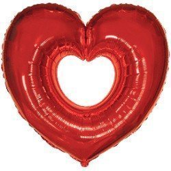 Globo Corazón Rojo hueco de 69cm x 80cm aprox