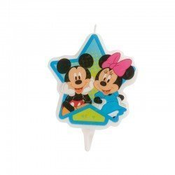 Vela Minnie & Mickey estrella de 7cm aprox