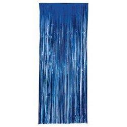 Decoracion Cortina Puerta Color Azul Economica ( 2,4m x 1 m)