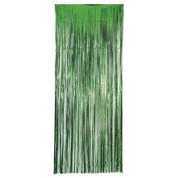 Decoracion Cortina Puerta Color Verde Economica ( 2,4m x 1 m)