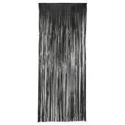Decoracion Cortina Puerta Color Negro Economica ( 2,4m x 1 m)