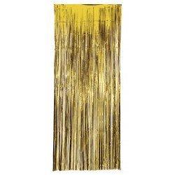 Decoracion Cortina Puerta Color Oro Economica ( 2,4m x 1 m)