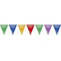 Banderín Triangulos Plástico Color Multicolor (50mts)IV-60051 Invercas