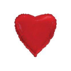 """Globo Corazón Rojo de 45cm estándar 18""""FL-201500R FLEXMETAL"""