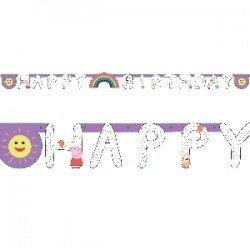 "Guirnalda ""Happy Birthday"" Peppa Pig party"