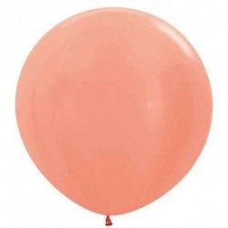 Globos Color Rosa Oro metalizado R24 de 60cm aprox. (10 UD)