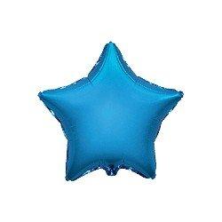 """Globo Estrella Azul de 45cm estándar 18""""FL-301500A FLEXMETAL"""