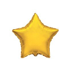 """Globo Estrella Oro de 45cm estándar 18""""FL-301500O FLEXMETAL"""