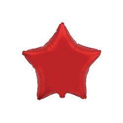 """Globo Estrella Rojo de 45cm estándar 18""""FL-301500R FLEXMETAL"""