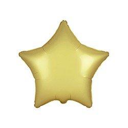 """Globo Estrella Oro Pastel Satinado de 45cm estándar 18""""FL-301500SPG FLEXMETAL"""