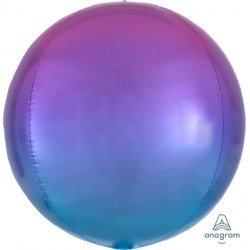 Globo Orbz fusion rosa y azul metalizado de 40cm