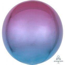 Globo Orbz fusion morado y azul metalizado de 40cm