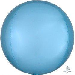 Globo Orbz Azul claro metalizado de 40cm
