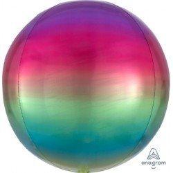 Globo Orbz fusion arcoiris metalizado de 40cm (BP)3985001 Anagram