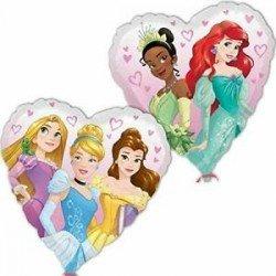 Globo Corazón Princesas Disney