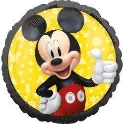 Globo foil Mickey Mouse clasico de 45cm