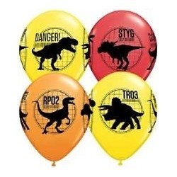 "Globos Jurassic World de 12"" (6)"