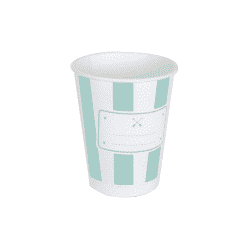 Vasos color Mint / aguamaraina, personalizables de 220 Ml (8)