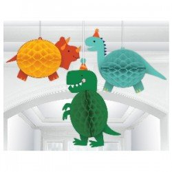 DECOR. COLG. NIDO ABEJA HAPPY DINO BDAY (3) (BP)292270 Amscan