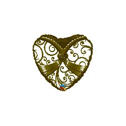 Globo corazon Vestido de Novia con Broche de 45 cm aprox