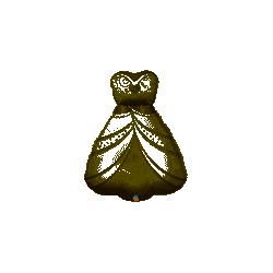 Globo forma Vestido de Novia con Broche de 96 cm aprox