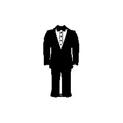 Globo forma Traje de Novio con Pajarita de 96 cm aprox