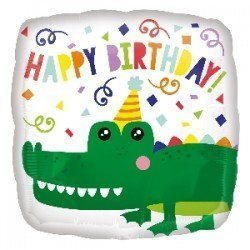 GLOBO COCODRILO HAPPY BIRTHDAY DE 45 CM APROX (BP)