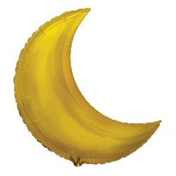 Globo Forma Luna oro de 90 cm aprox