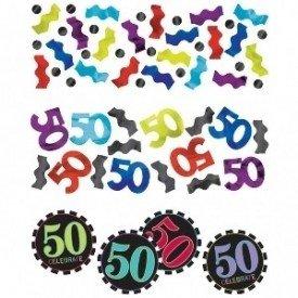 Confeti Chevron 50 Cumpleaños