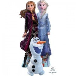 Globo Foil Frozen 2, Elsa, Anna y Olaf 144 cm aprox (Empaquetado)4039201 Anagram
