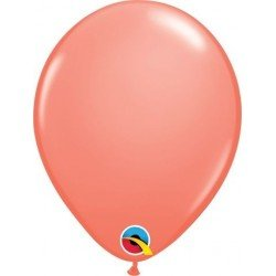 Globo látex color Coral 5 pulg. Bolsa de 100Ct (BP)QL-24258 Qualatex