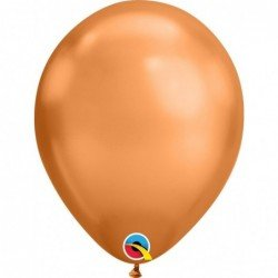 "Globos color copper Chrome Qualatex de 11""- 28cm (25)"