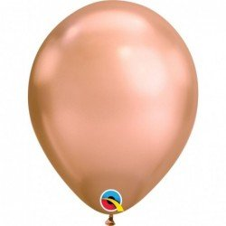 "Globos color Rosa oro Chrome Qualatex de 11""- 28cm (25)"
