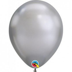 Globos Color  Chrome Silver 100Ct (BP)QL-85109 Qualatex