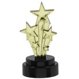 Trofeos (6) pequeños Hollywood Estrella (7,6 cm)397891 Amscan