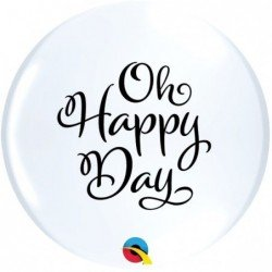 11 pulg. (27,9cm) Rnd White 50Ct Simply Oh Happy Day Topprint (BP)