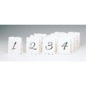 Tarjetas (12 del 1 al 12) Números para mesa de Bodas