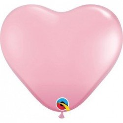 06 pulg. (15,2cm) Hrt Pink 100 Und. (BP)QL-43642 Qualatex
