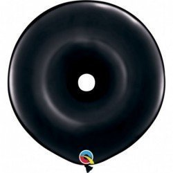 16 pulg. (40,6cm) Dnt Onyx Black 25Ct Donut (BP)QL-37701 Qualatex