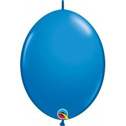 06 pulg. (15,2cm) Qlink Dark Blue 50Ct Qualatex Quick Link Balloons (BP)QL-90175 Qualatex