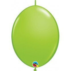 06 pulg. (15,2cm) Qlink Lime Green 50Ct Qualatex Quick Link Balloons (BP)QL-90178 Qualatex