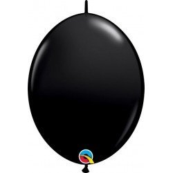06 pulg. (15,2cm) Qlink Onyx Black 50Ct Qualatex Quick Link Balloons (BP)QL-90176 Qualatex