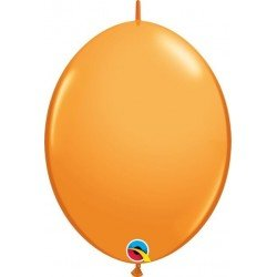 06 pulg. (15,2cm) Qlink Orange 50Ct Qualatex Quick Link Balloons (BP)QL-90179 Qualatex