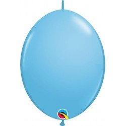 06 pulg. (15,2cm) Qlink Pale Blue 50Ct Qualatex Quick Link Balloons (BP)QL-90185 Qualatex