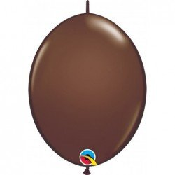 12 pulg. (30,4cm) Qlink Chocolate Brn 50 Und. Quick Link Balloons (BP)QL-65332 Qualatex