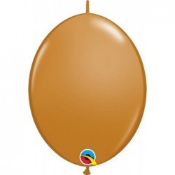 12 pulg. (30,4cm) Qlink Mocha Brown 50 Und. Quick Link Balloons (BP)QL-99869 Qualatex