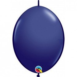 12 pulg. (30,4cm) Qlink Navy 50 Und. Quick Link Balloons (BP)QL-57146 Qualatex