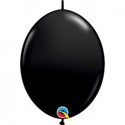 12 pulg. (30,4cm) Qlink Onyx Black 50Ct Qualatex Quick Link Balloons (BP)QL-65216 Qualatex