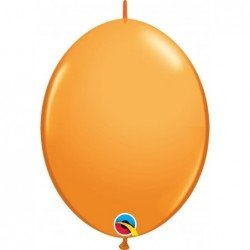 12 pulg. (30,4cm) Qlink Orange 50Ct Qualatex Quick Link Balloons (BP)QL-65221 Qualatex