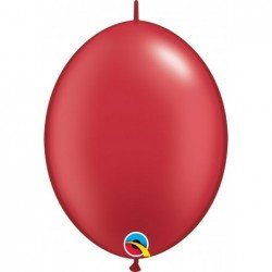 12 pulg. (30,4cm) Qlink Prl Ruby Red 50 Und. Quick Link Balloons (BP)QL-65291 Qualatex